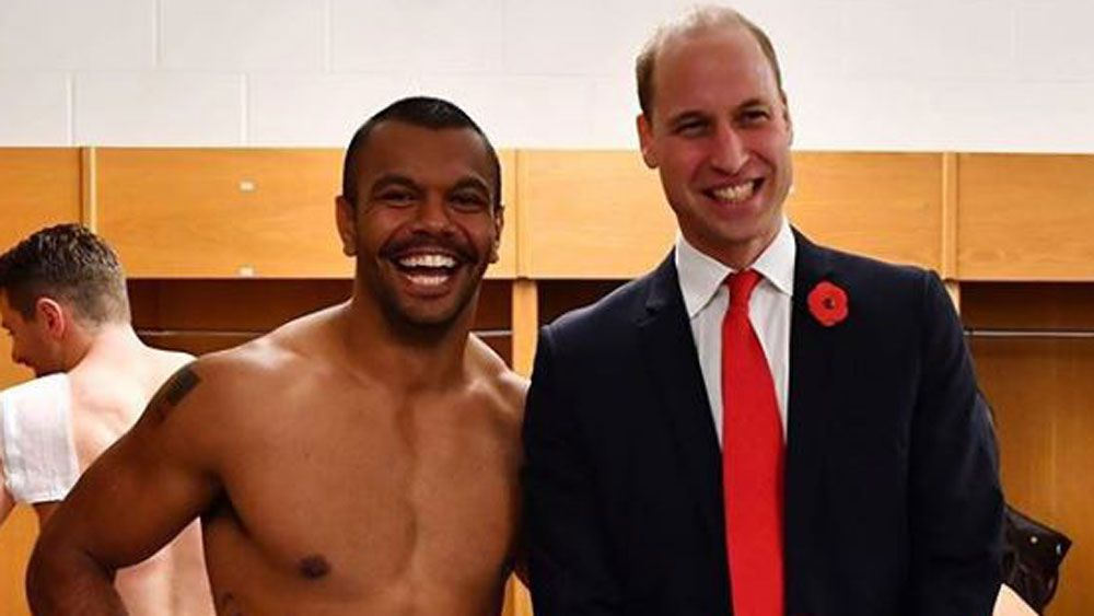 Kurtley Beale and Prince William.
