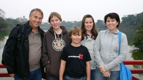 The Kelly family in happier times. (60 Minutes)