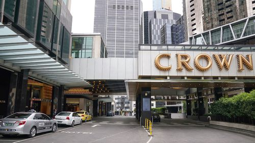 Crown Casino in Melbourne, Monday, March 23, 2020. Crown Casino is among venues that will close to curb the spread of the deadly Coronavirus.