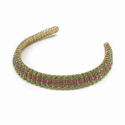 "<strong><a href=""https://viktorianovak.com.au/collections/bejeweled/sparkness-watermelon.html"" target=""_blank"">Viktoria Novak</a></strong> watermelon crustal crown, $660<br>"