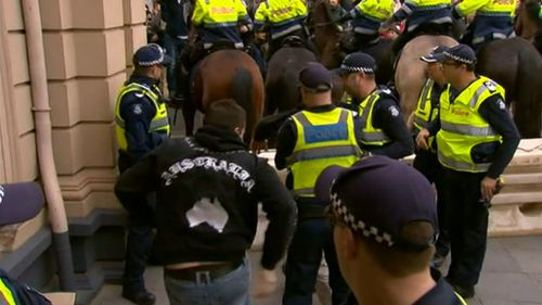 Protesters have criticised the actions of police. (9NEWS)