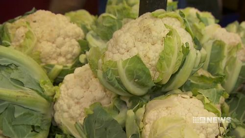 Cauliflower, a winter vegetable, is selling for almost double its normal price at the moment.