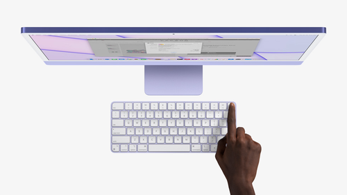 TouchID is available on the iMac for the first time.