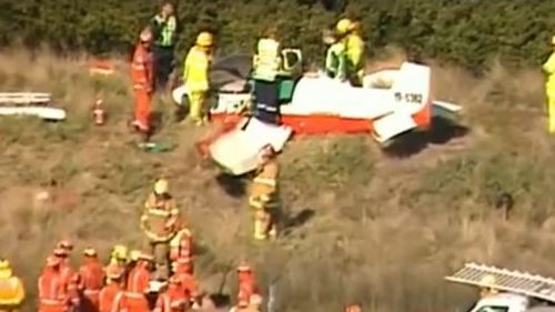 Victorian pilot may have damaged spine in runway smash