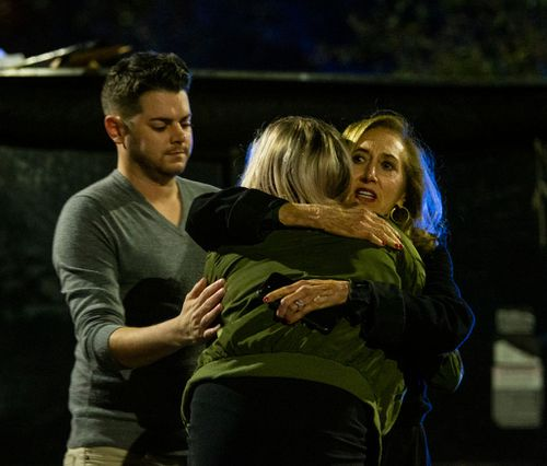 Witnesses to the shooting said 'profusely' bleeding victims came rushing from the studio asking for help.