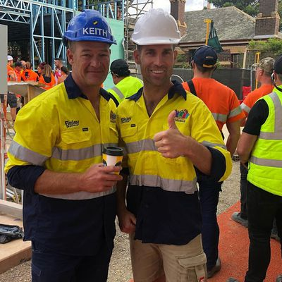All smiles on site