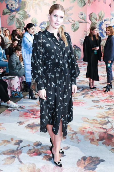 Lady Kitty Spencer at Zimmermann's A/W '18 show in New York City