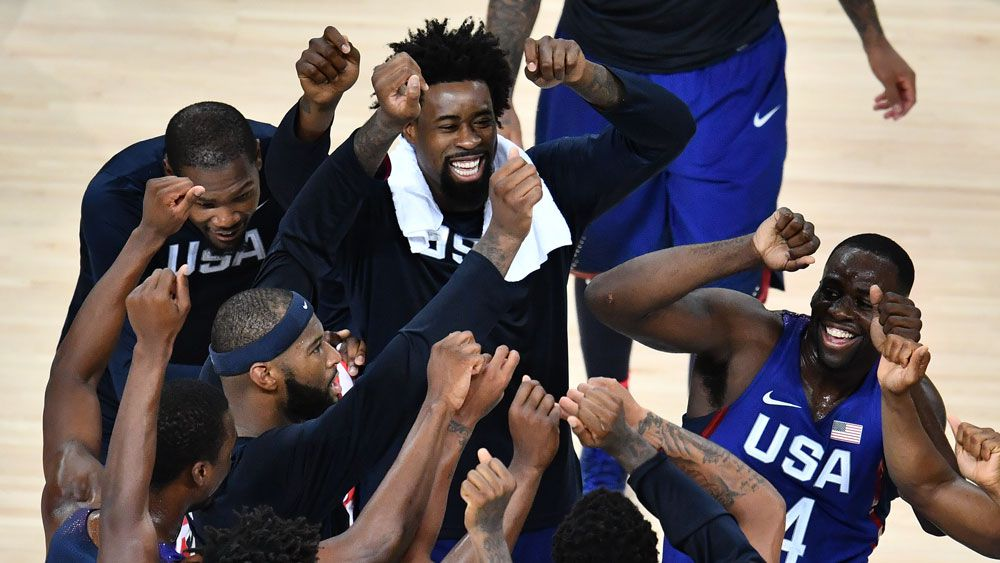 The US men's basketball team. (AFP)