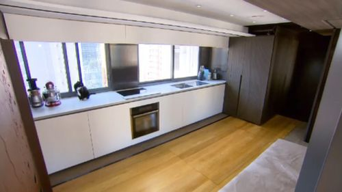 Andy Knight shares this 28.7 square-metre flat with his wife. (9NEWS)