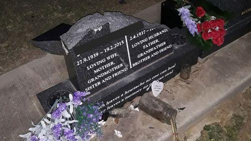 Dozens of gravestones have been desecrated at Sedgefield cemetery.