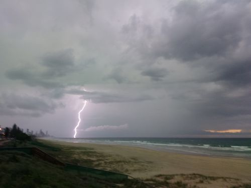 Severe storm warnings are in place for much of SE Queensland tonight and tomorrow.