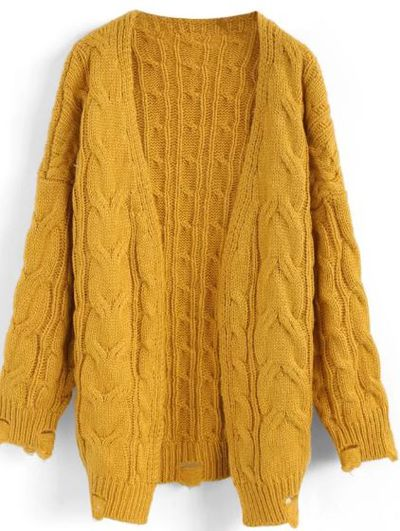 "<p>""Go for cosy woollen pieces in hot pinks and fizzy oranges. Yellow is trending big-time too, and has become a trend all on its own,"" shares Cowell.</p> <p><a href=""https://aus.chicwish.com/comfy-day-diary-cable-knit-cardigan-in-mustard.html?utm_source=google&amp;utm_medium=cpc&amp;adpos=1o4&amp;scid=scplpT20170817006yellowS%2FM&amp;sc_intid=T20170817006yellowS%2FM&amp;gclid=EAIaIQobChMI4cao7aux2wIVmCQrCh0ZAQg2EAQYBCABEgJitvD_BwE"" target=""_blank"" draggable=""false"">Comfy Day Diary Cable Knit Cardigan</a> in Mustard, $63.70</p>"