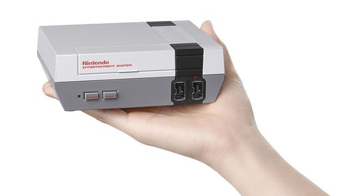 The console is a mini version of the old classic. (AAP)
