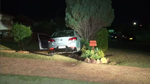 The man, aged in his 20s, led police on a pursuit through Sydney's western suburbs overnight before crashing a stolen car and being arrested.