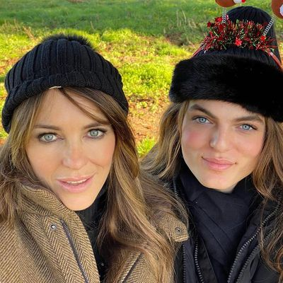 Elizabeth Hurley and son Damian