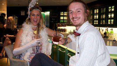 Matt and Monni enjoying a cocktail or three.