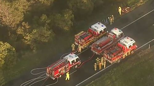 Fire crews are at the scene. (9NEWS)