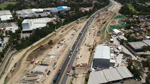 Transurban is one of two bidders for the project but faces questions from the consumer watchdog. Picture: 9NEWS