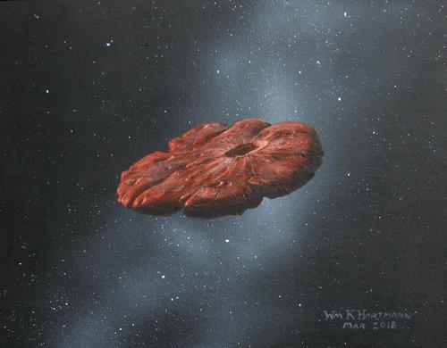 Concepto artístico del objeto interestelar