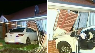 Man woken up to car crashing into home