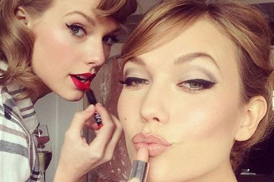 @taylorswift: Hair/make up/Motown dance party @karliekloss