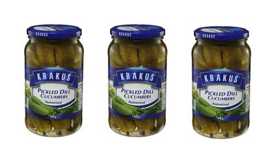 Pickled dill cucumbers