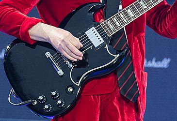 Daily Quiz: Which guitar manufacturer produces Angus Young's SG?