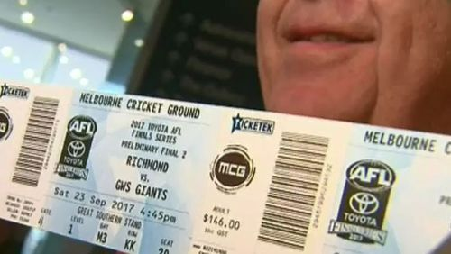 Scalpers will face tough new fines ahead of the AFL finals. Picture: 9NEWS