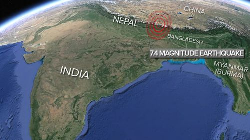 A severe earthquake has rocked Nepal. (US Geological Survey)