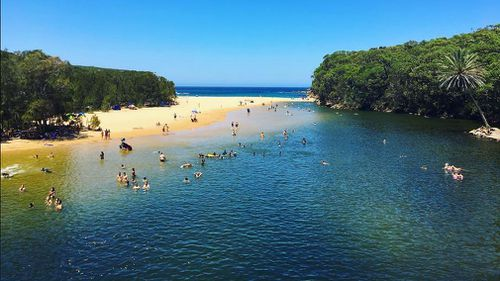 A man's body has been found after he went missing at the Wattamolla beach lagoon, in the NSW Royal National Park south of Sydney.