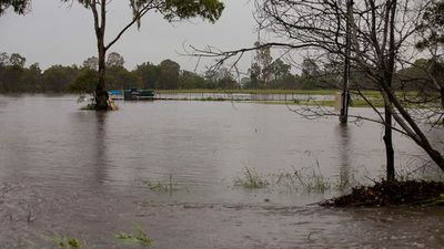 While Cyclone Marcia has eased to a category one storm, flooding is expected to increase. (Supplied: Olya Hilton)
