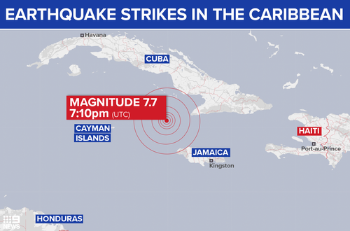 A tsunami warning was issued after the earthquake struck.