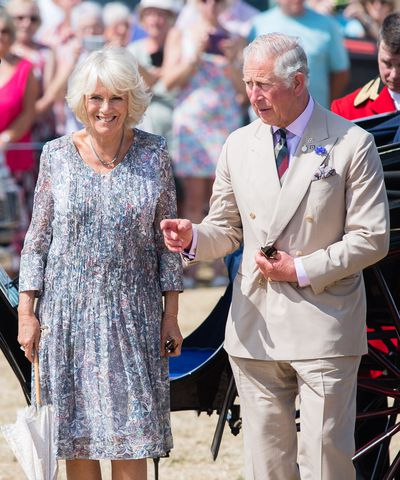 The Prince of Wales and the Duchess of Cornwall at the Sandringham Flower Show, July 2018