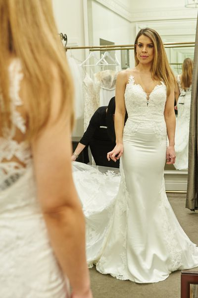 Married at First Sight's Carly at fittings for her dream dress