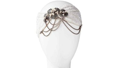 """<a href=""""http://romanandfrench.com/collections/bridal-hair-accessories-halo-circlet/products/anais-bridal-headwrap"""" target=""""_blank"""">Anais Bridal Headwrap, $765, Roman and French</a>"""