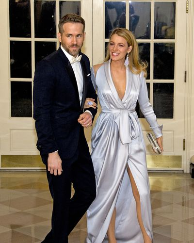 Blake Lively and Ryan Reynolds at the State Dinner in honour of Prime Minister Trudeau and Mrs. Sophie Trudeau of Canada at the White House March 10, 2016 in Washington, DC