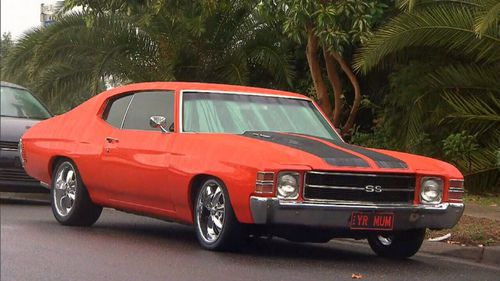 One of the luxury cars, a 1971 Chevrolet Chevelle SS coupe, was found several hours later abandoned in Castle Hill. (Supplied)