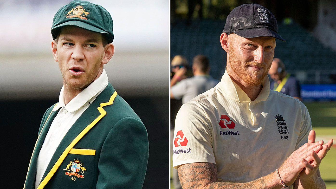 Tim Paine has taken aim at the hypocrisy of English players and their fans