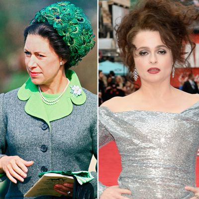 Princess Margaret played by Helena Bonham Carter