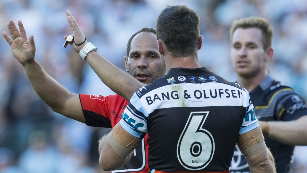 James Maloney was sent to the sin-bin in the Sharks-Cowboys NRL final. (AAP)