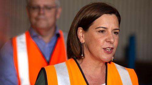 Queensland Opposition Leader Deb Frecklington and Prime Minister Scott Morrison visits the Neumann Steel Fabrication on the Gold Coast.