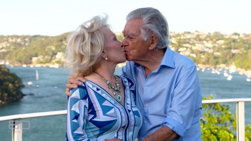 Bob Hawke with his wife, writer Blanche D'Alpuget.