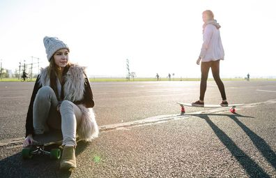 Skaters at Berlin's historic Tempelhof airport