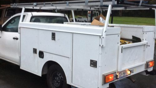 The tradie's ute was stolen along with nearly $4000 worth of tools. Picture: 9NEWS