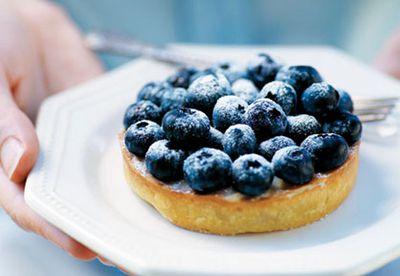 Blueberry vanilla tart