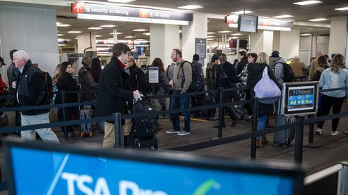 Departing flights from Philadelphia and Newark are delayed between an hour and an hour and 15 minutes, and LaGuardia departures delayed between 15 and 30 minutes, the FAA said.