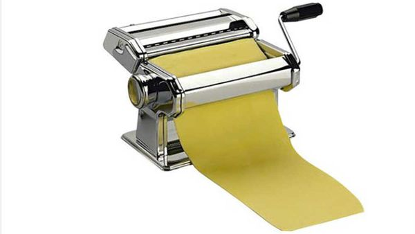 """<p>Nothing will tell dad you love him like the gift that lets the whole family make pasta together.</p> <p>- <a href=""""http://www.kitchenwarehouse.com.au/Avanti-Stainless-Steel-Pasta-Making-Machine-150mm"""" target=""""_top"""">Avanti Stainless Steel Pasta Making Machine</a>, $49.95 from Kitchen Warehouse</p>"""