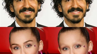 What celebrities look like with and without eyebrows