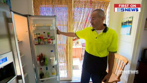 Homeowner Steve Freeman said the thief stole drinks from his fridge along with chocolates.