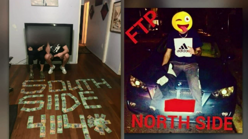 The Facebook pages of purported youth gangsters show photos they've uploaded that appear to boast of their actions.